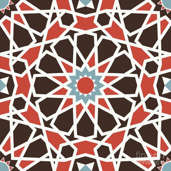 Arab Digital Art - Arabesque Seamless Pattern 06 by Pablo Romero
