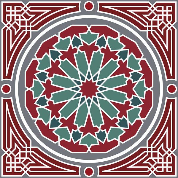 Arab Digital Art - Arabesque Seamless Pattern 07 by Pablo Romero