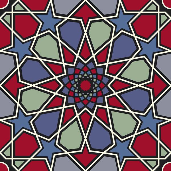 Arab Digital Art - Arabesque Seamless Pattern 08 by Pablo Romero