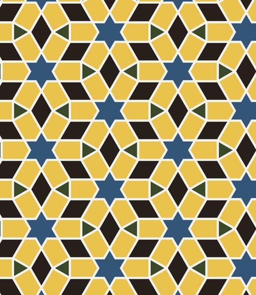 Arab Digital Art - Arabesque Seamless Pattern 10 by Pablo Romero