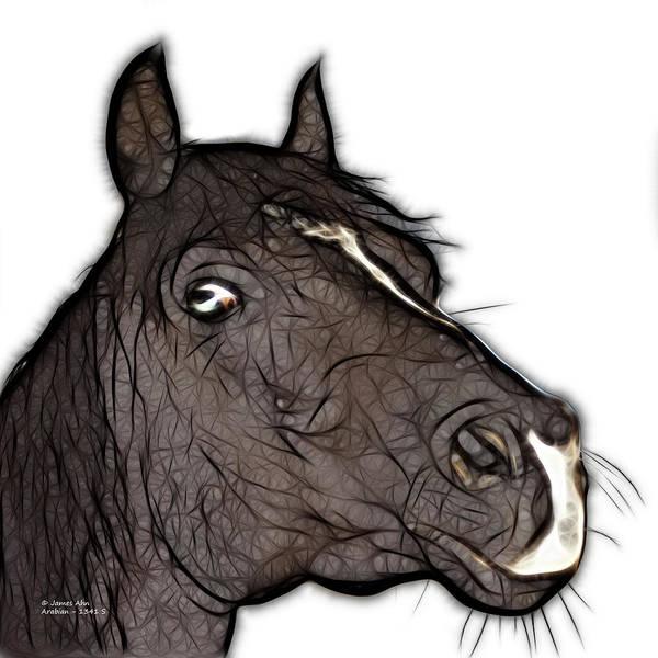 Digital Art - Arabian Horse - 1341 S by James Ahn