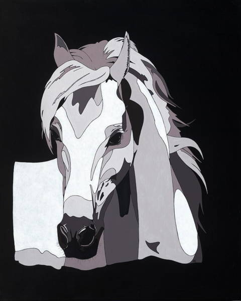 Painting - Arabian Horse With Hidden Picture by Konni Jensen