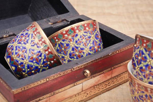 Latch Wall Art - Photograph - Arabian Teacups by Tom Gowanlock