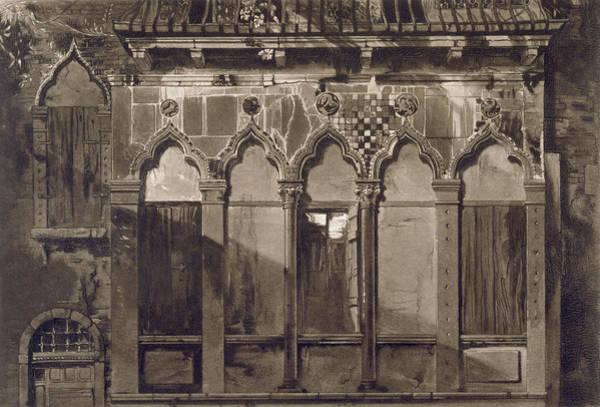 Window Drawing - Arabian Windows, In Campo Santa Maria by John Ruskin