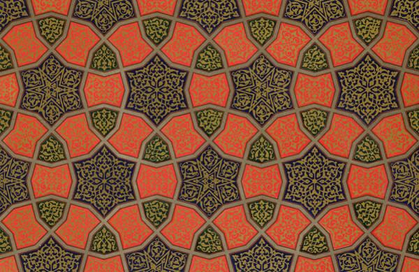 Middle Drawing - Arabic Decorative Design by Emile Prisse dAvennes