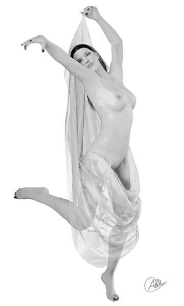 Female Nude Digital Art - Nude Odalisque by Quim Abella
