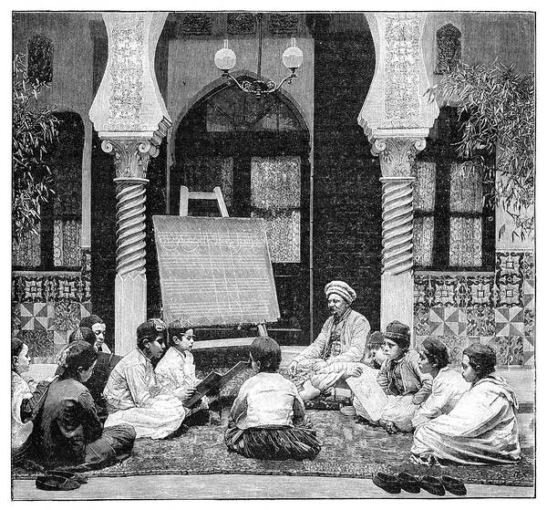 1899 Photograph - Arabic School In Algeria by Science Photo Library