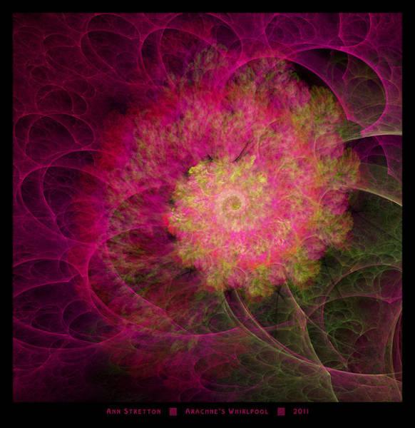 Digital Art - Arachne's Whirlpool  by Ann Stretton