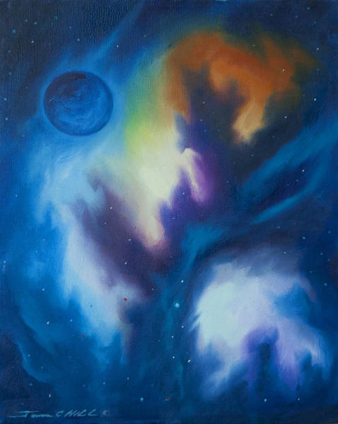 Painting - Aramon Nebula  by James Christopher Hill
