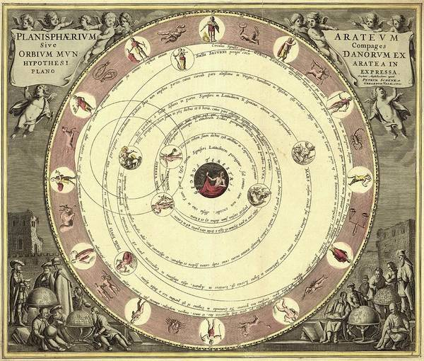 1600s Wall Art - Photograph - Aratus Planisphere by Library Of Congress, Geography And Map Division