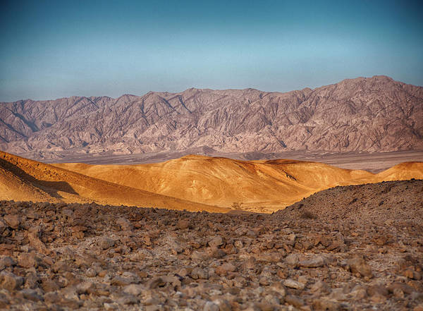 High Dynamic Range Imaging Photograph - Arava Valley During Golden Hour - Hdr by Taken By Ehud Lavon