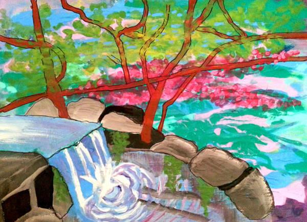 Painting - Arbutus Tree By Stream by Nikki Dalton