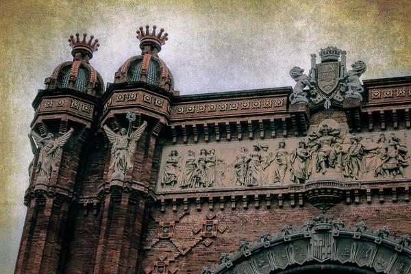 Photograph - Arc De Triomf Barcelona Detail by Joan Carroll