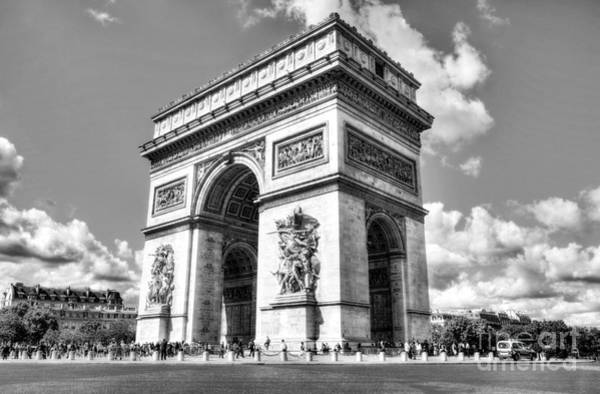 Photograph - Arc De Triomphe Bw by Mel Steinhauer