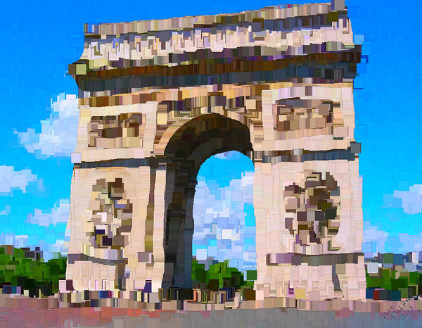 Post-it Painting - Arc De Triophe by Bruce Nutting