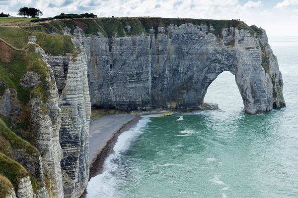 Etretat Photograph - Arch And Cliff Along The Coast by Chrisvankan