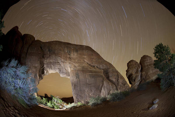 Wall Art - Photograph - Arch And Star Trails by Juan Carlos Diaz Parra