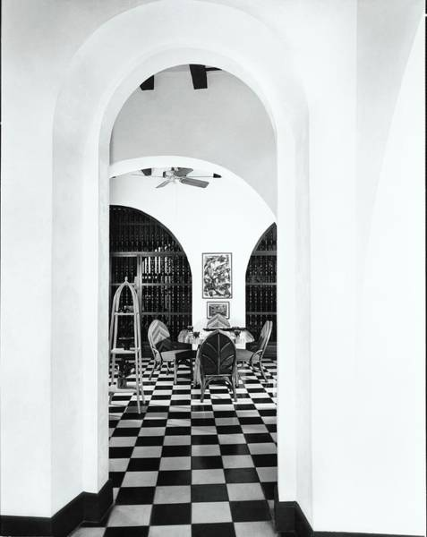 Tile Floor Photograph - Arch By Dining Room by Tom Leonard