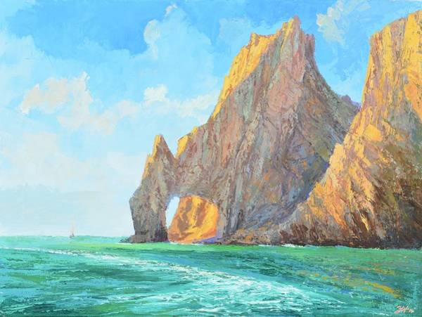 Cabo San Lucas Arch Wall Art - Painting - The Arch Of Cabo San Lucas 1 by Yinguo Huang