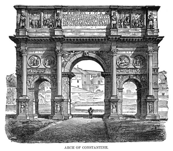 Wall Art - Painting - Arch Of Constantine, C1894 by Granger