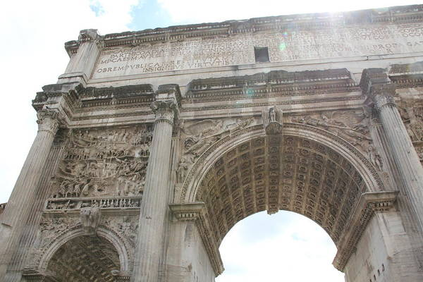 Photograph - Arch Of Titus by Nancy Ingersoll