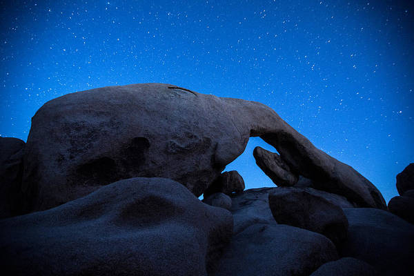 Rock Formation Photograph - Arch Rock Starry Night 2 by Stephen Stookey