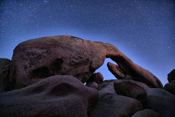 Joshua Tree National Park Wall Art - Photograph - Arch Rock Under The Stars by Stephen Stookey