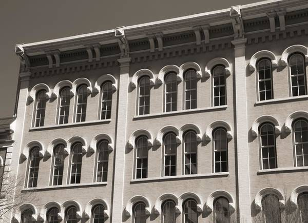 Photograph - Arch Windows Black And White by Dan Sproul