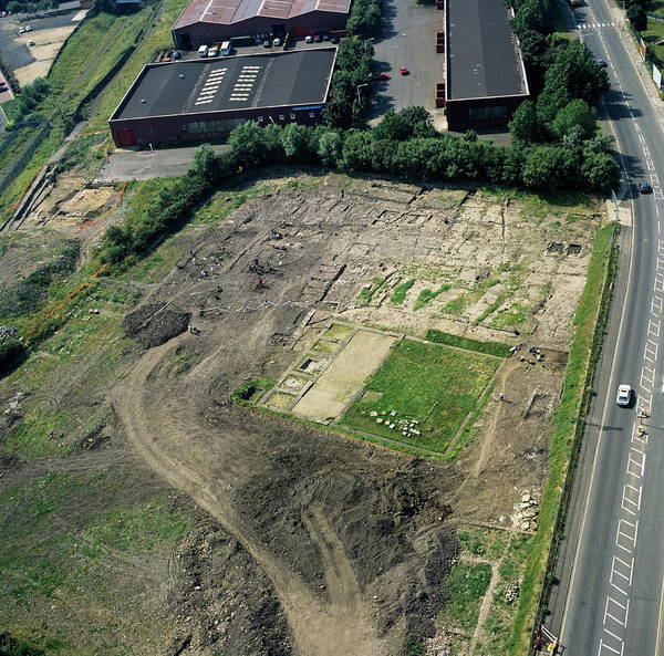 Roman Wall Photograph - Archaeological Excavation by Skyscan/science Photo Library