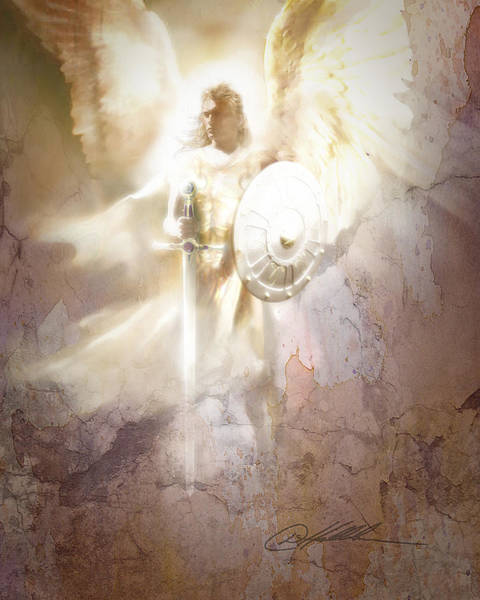 Wall Art - Painting - Archangel by Danny Hahlbohm