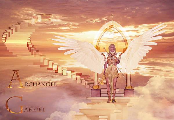 Painting - Archangel Gabriel by Valerie Anne Kelly