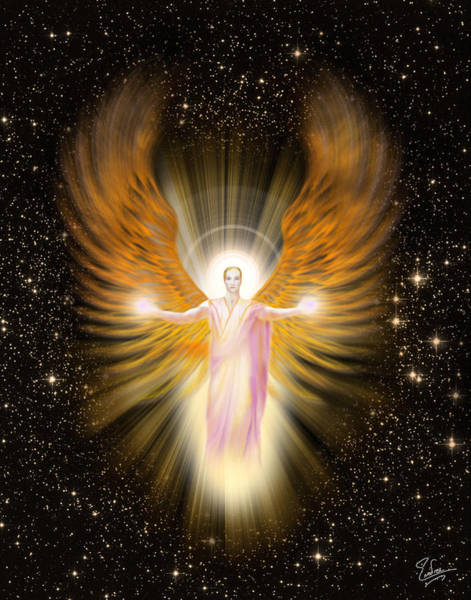 Digital Art - Archangel Raphael by Endre Balogh