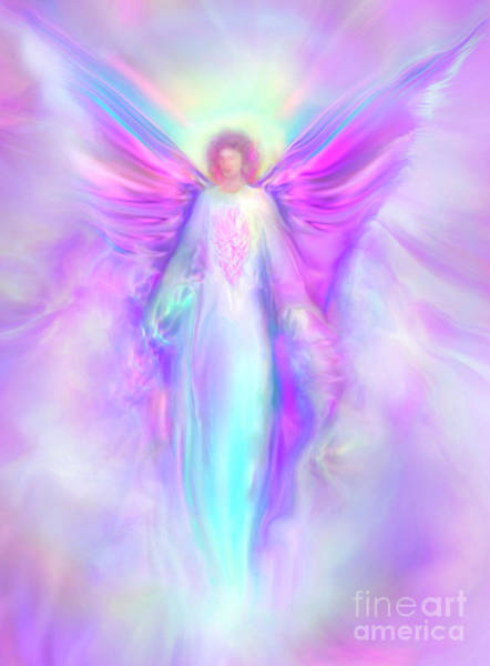 Energy Painting - Archangel Raphael by Glenyss Bourne
