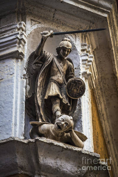 Photograph - Archangel Saint Michael Defeating Satan Cadiz Spain by Pablo Avanzini