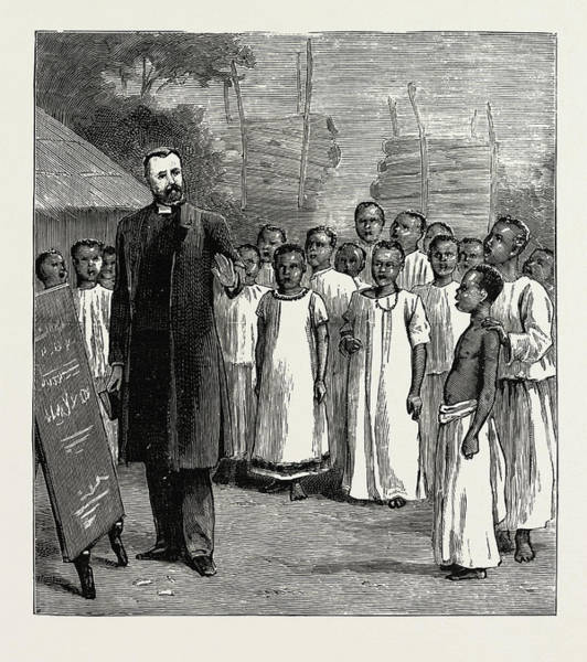 Uganda Drawing - Archdeacon Maples Native Singing Class At Lukoma Uganda by Litz Collection