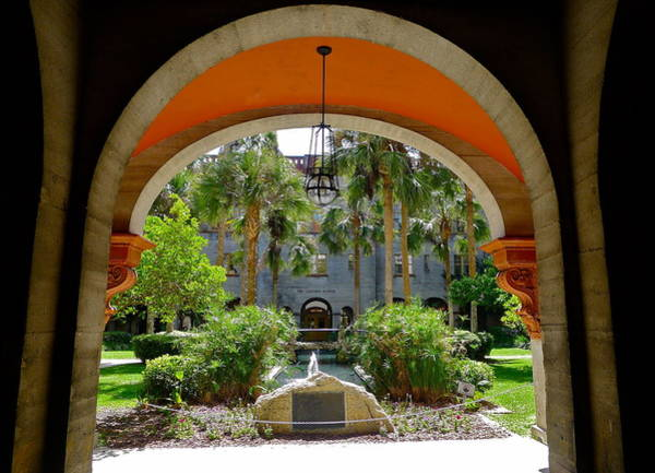 Lightner Museum Photograph - Arched Courtyard by Denise Mazzocco