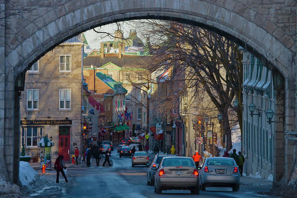 Quebec Photograph - Arched Entrance To Uptown by Keren Su