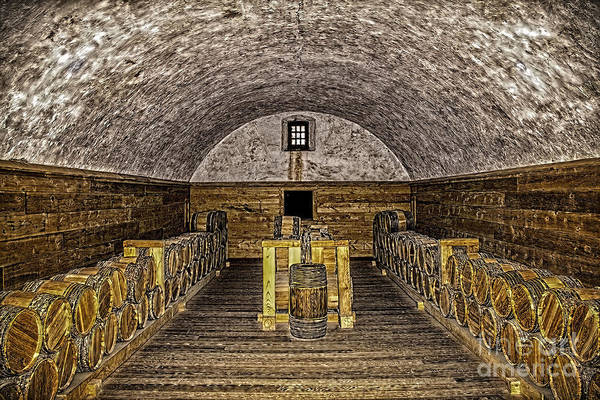 Photograph - Arched Wine Cellar by Jim Lepard