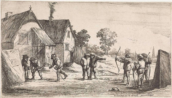 Target Drawing - Archers, Anonymous, David Teniers II, David Teniers II by David Teniers (ii)