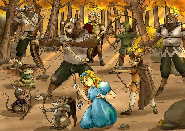 Archery In Oxboar Art Print