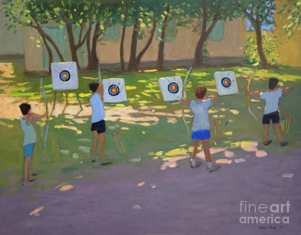 Shooting Painting - Archery Practice  France by Andrew Macara