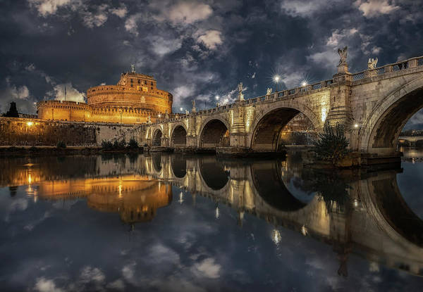 Stone Arch Photograph - Arches And Clouds. by Massimo Cuomo