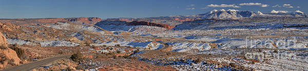Photograph - Arches La Sal Panorama by Adam Jewell