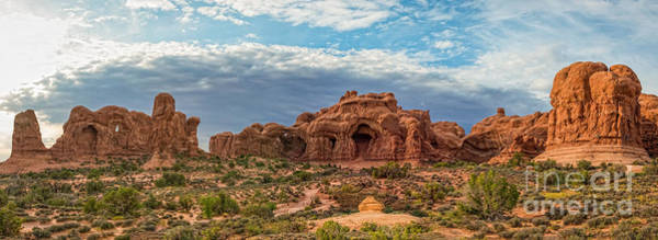 Delicate Arch Wall Art - Photograph - Arches National Park Pano by Michael Ver Sprill