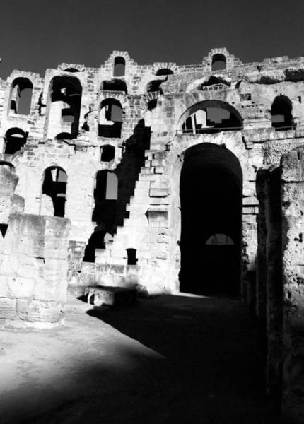 El Jem Photograph - Arches Of El Jem's Coloseum by Donna Corless