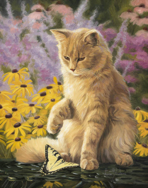 Domestic Cat Wall Art - Painting - Archibald And Friend by Lucie Bilodeau