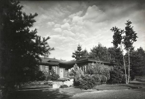 Dwelling Photograph - Architect Henry L Blatner Designed His Own Home by Robert M. Damora