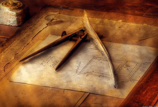 Drafting Photograph - Architect - The Draftsman by Mike Savad