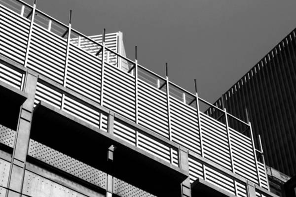 Architectural Lines Black White Art Print