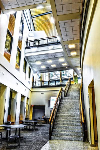 University Of West Florida Photograph - Architectural Lobby by Jon Cody